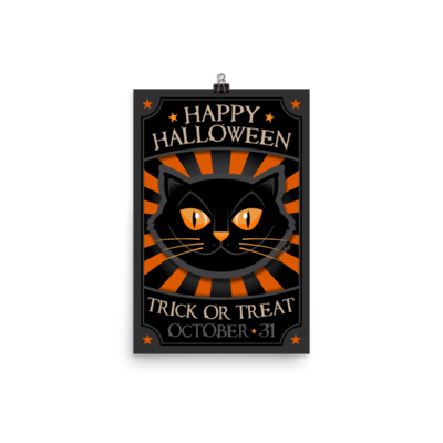 Happy Halloween Poster - Dark Mode