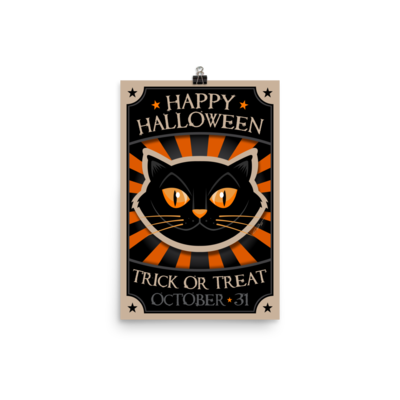 Vintage Style Halloween Poster