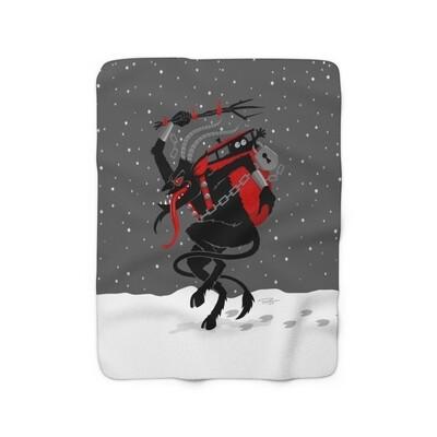 Krampus Sherpa Blanket