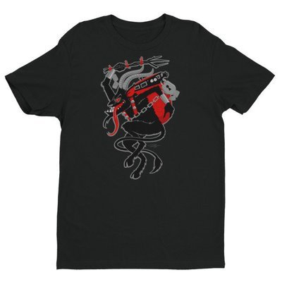 Men's Krampus Short Sleeve T-shirt - Black
