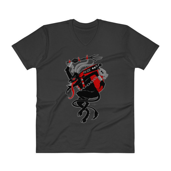 Men's Krampus V-Neck T-Shirt - Black or Smoke