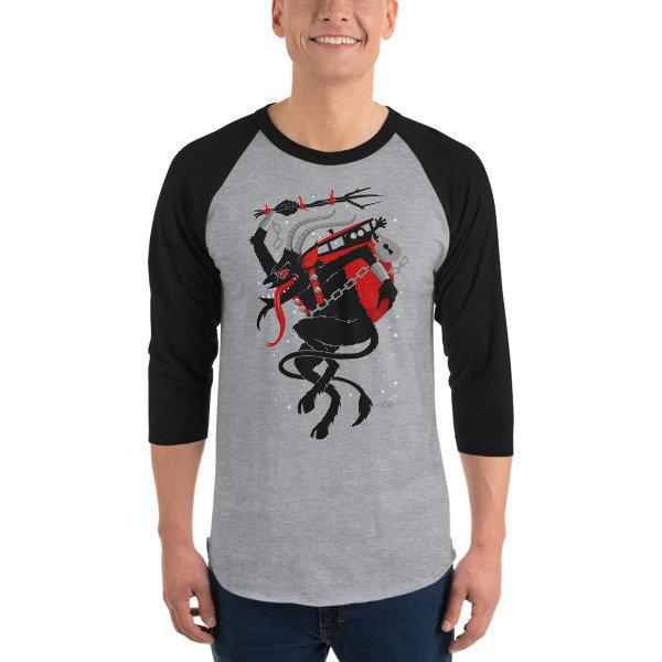 Men's Krampus Raglan Shirt - Grey