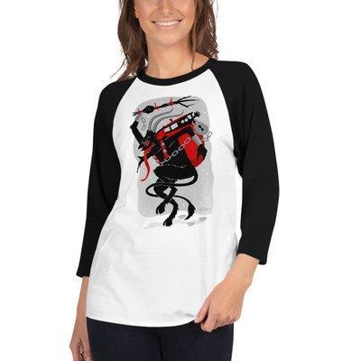 Krampus Raglan Shirt - White