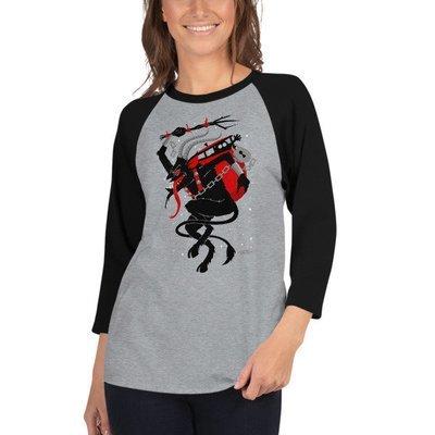 Krampus Raglan Shirt - Grey