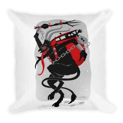 Winter Krampus Throw Pillow