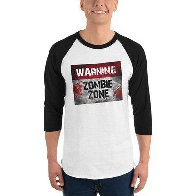 Zombie Zone - 3/4 sleeve raglan shirt