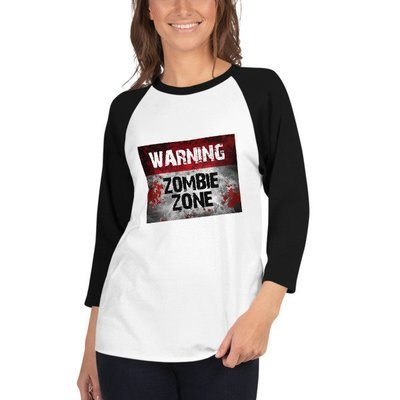 Zombie Zone - 3/4 sleeve raglan shirt