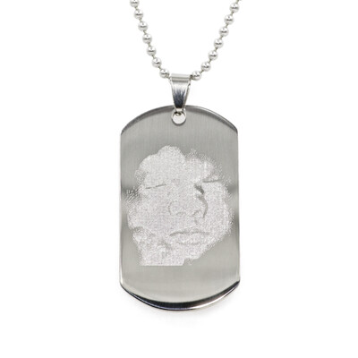 Photo Dog Tag Necklace or Keyring