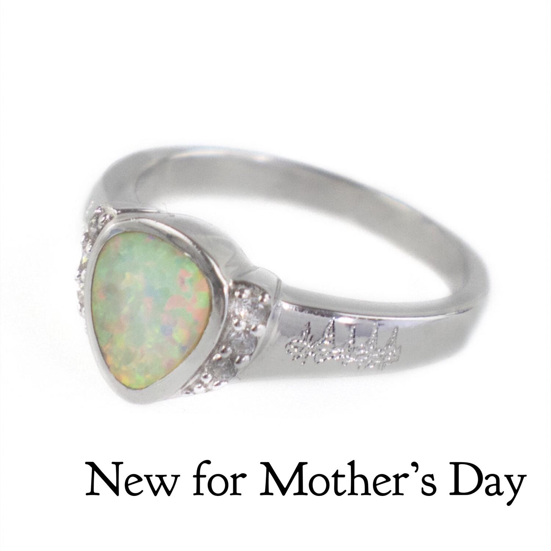 Heartbeat Opal Ring
