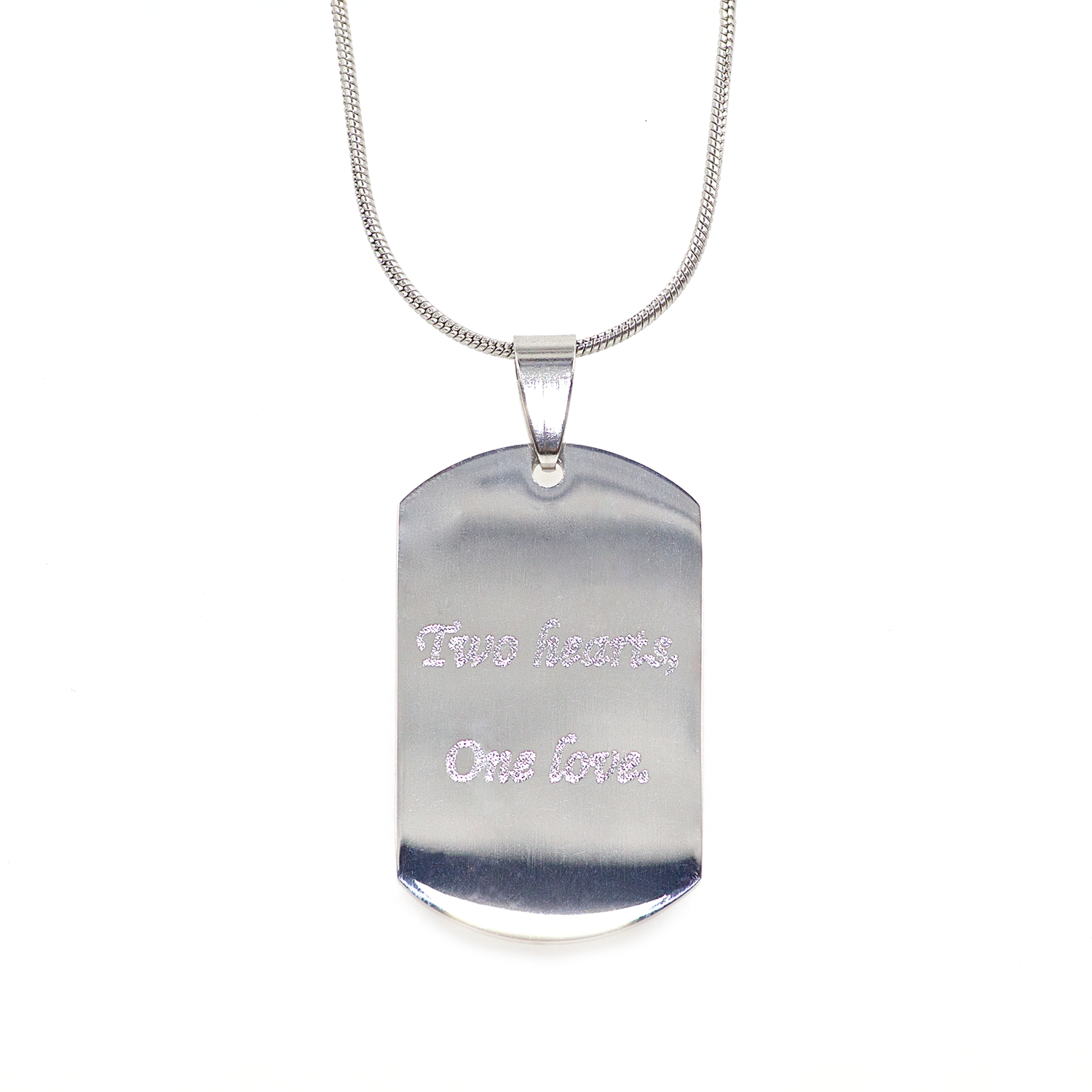 Mini Stainless Steel Heartbeat Dog Tag