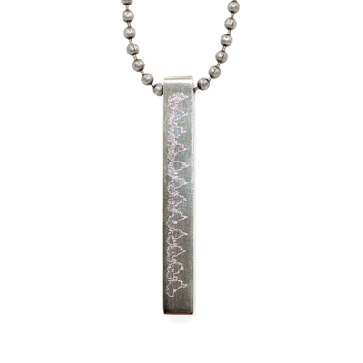 Stainless Steel 4-Sided Pendant