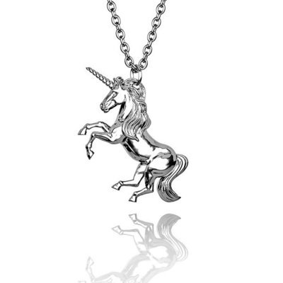 Magnificent Unicorn pendant in Hallmarked solid 925 Sterling Silver and chain. Luxury Gift with extraordinary detail.