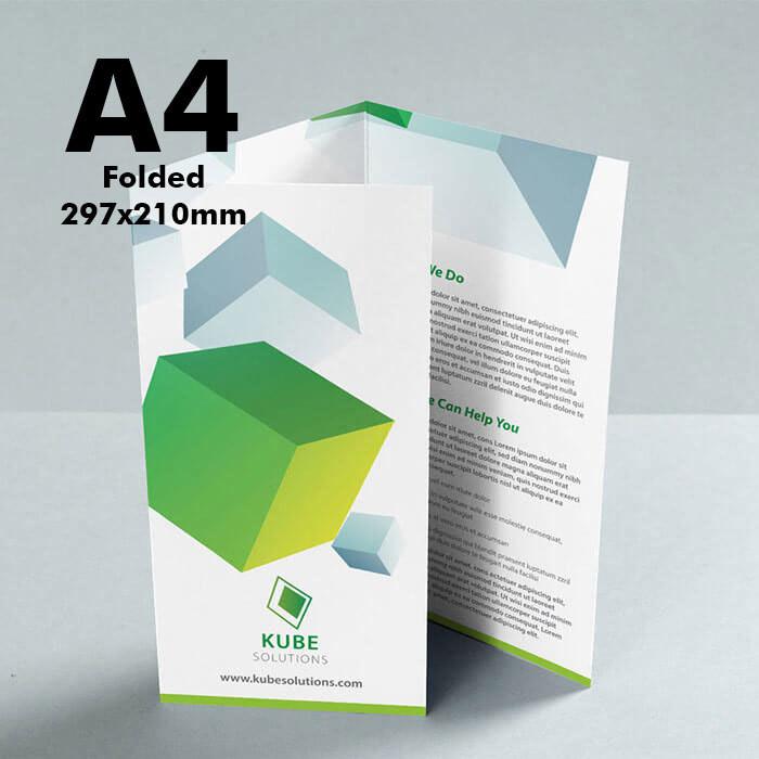 A4 Folded Leaflet (170gsm premium paper) x250