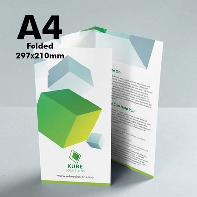 A4 Folded Leaflet (170gsm premium paper) x250
