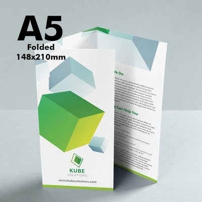 A5 Folded Leaflet (170gsm premium paper) x250