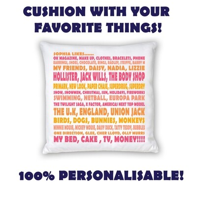 Cushion - My Favourite Things