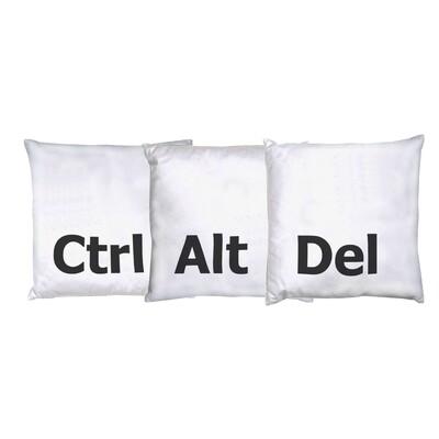Cushion set of 3 - Ctrl Alt Del