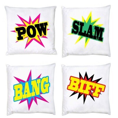 Cushion set of 4 - Pillow fight