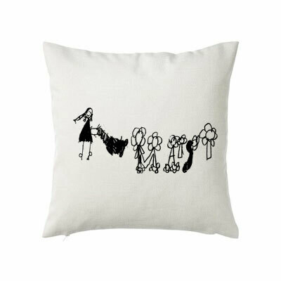 Cushion - with child's drawing