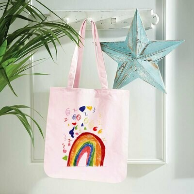 Premium Shopping Bags - with a child's drawing