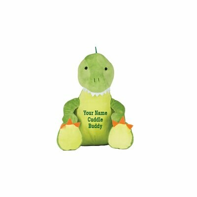 Dinosaur with embroidered message