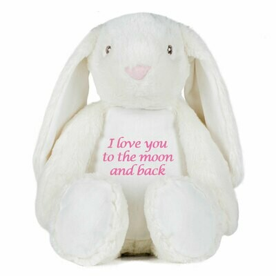 Bunny with embroidered message