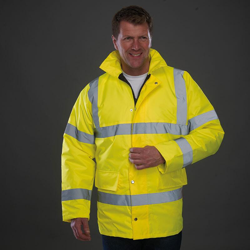 Hi-vis classic motorway jacket (YK045)