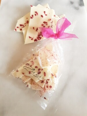 White Chocolate and Dried Raspberry Bark