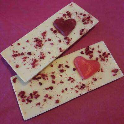 Double White Chocolate Raspberry Jelly Heart Bars