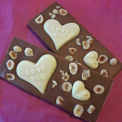 Double Caramel Hazelnut Valentines Bar
