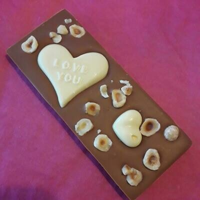 Caramel Hazelnut Valentines Bar