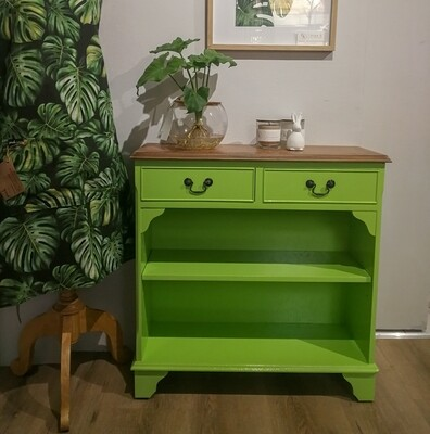 Green Bookcase with Drawers