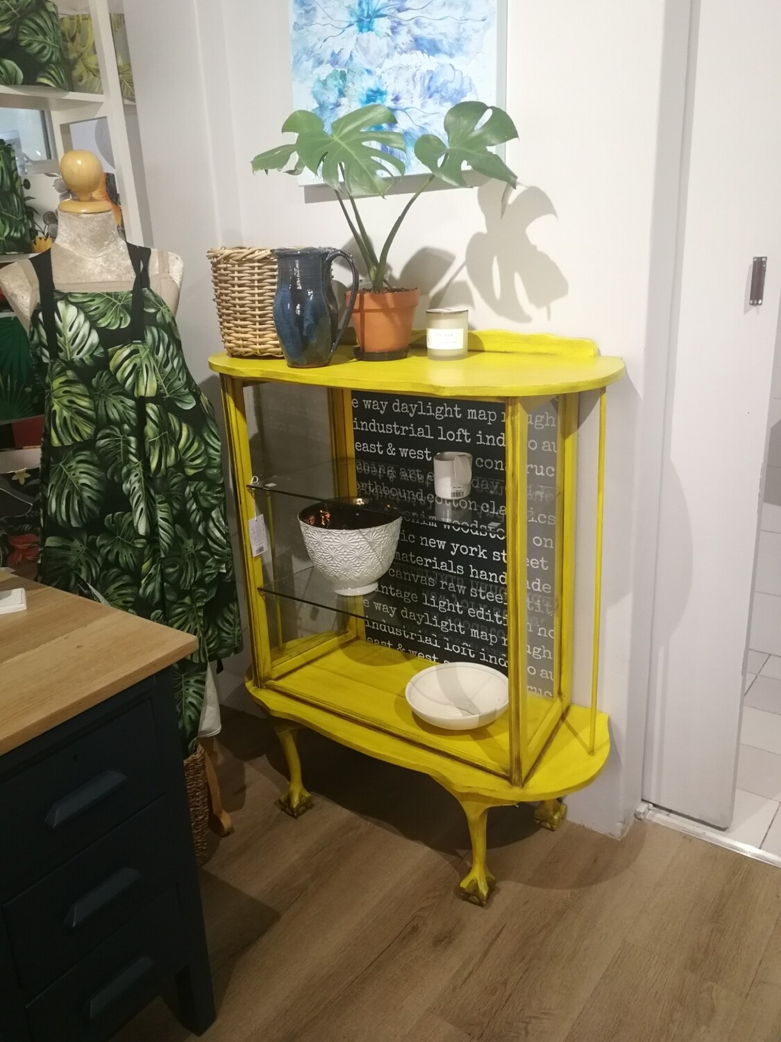 Yellow Ball & Claw Display Cabinet