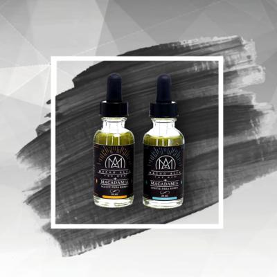 Aceite hidratante de macadamia para barba y bigote