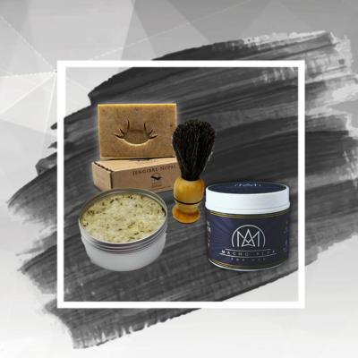 Kit Fijación de Cabello con Jabón para afeitar