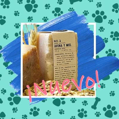 Jabón perruno de avena-miel