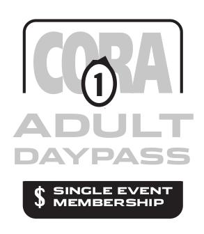 CORA Adult Single Event Membership 2021