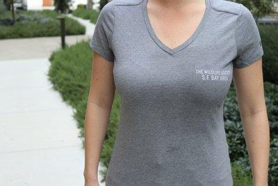 Women's V-Neck Gray T-Shirt
