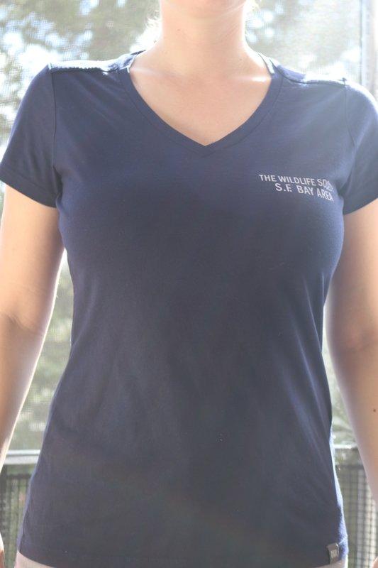 Women's V-Neck Navy T-Shirt