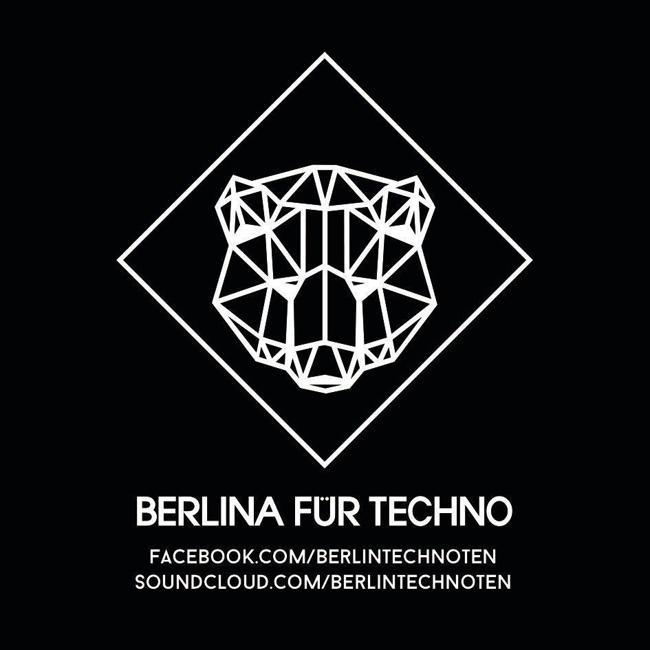 """Sticker Paket """"Berlina für Techno"""" 00009"""