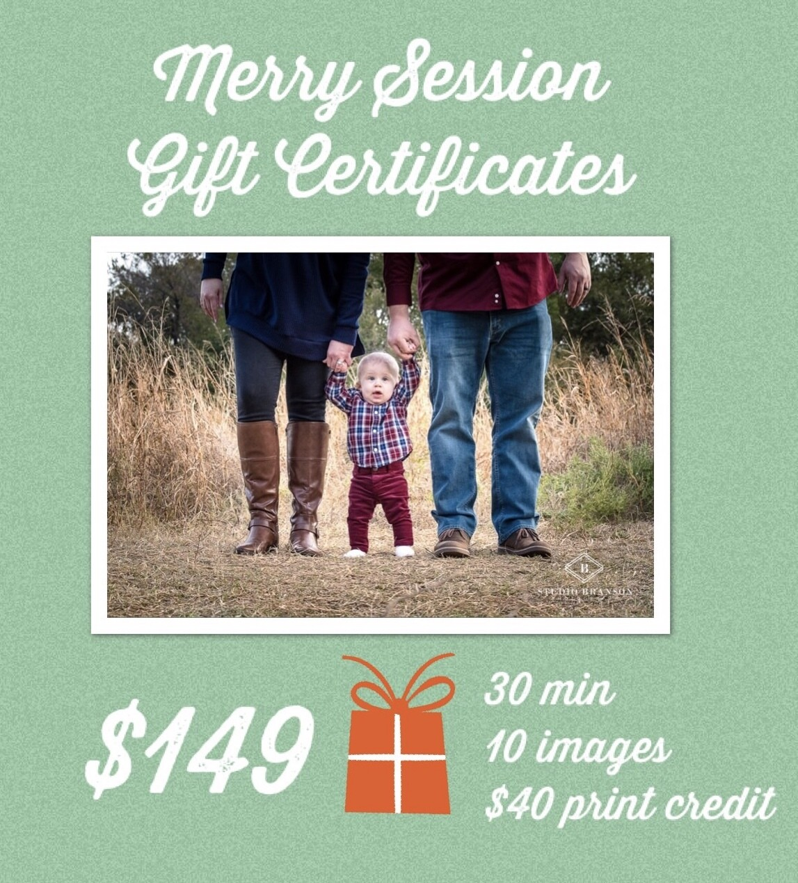 Merry Family Session Gift Certificate
