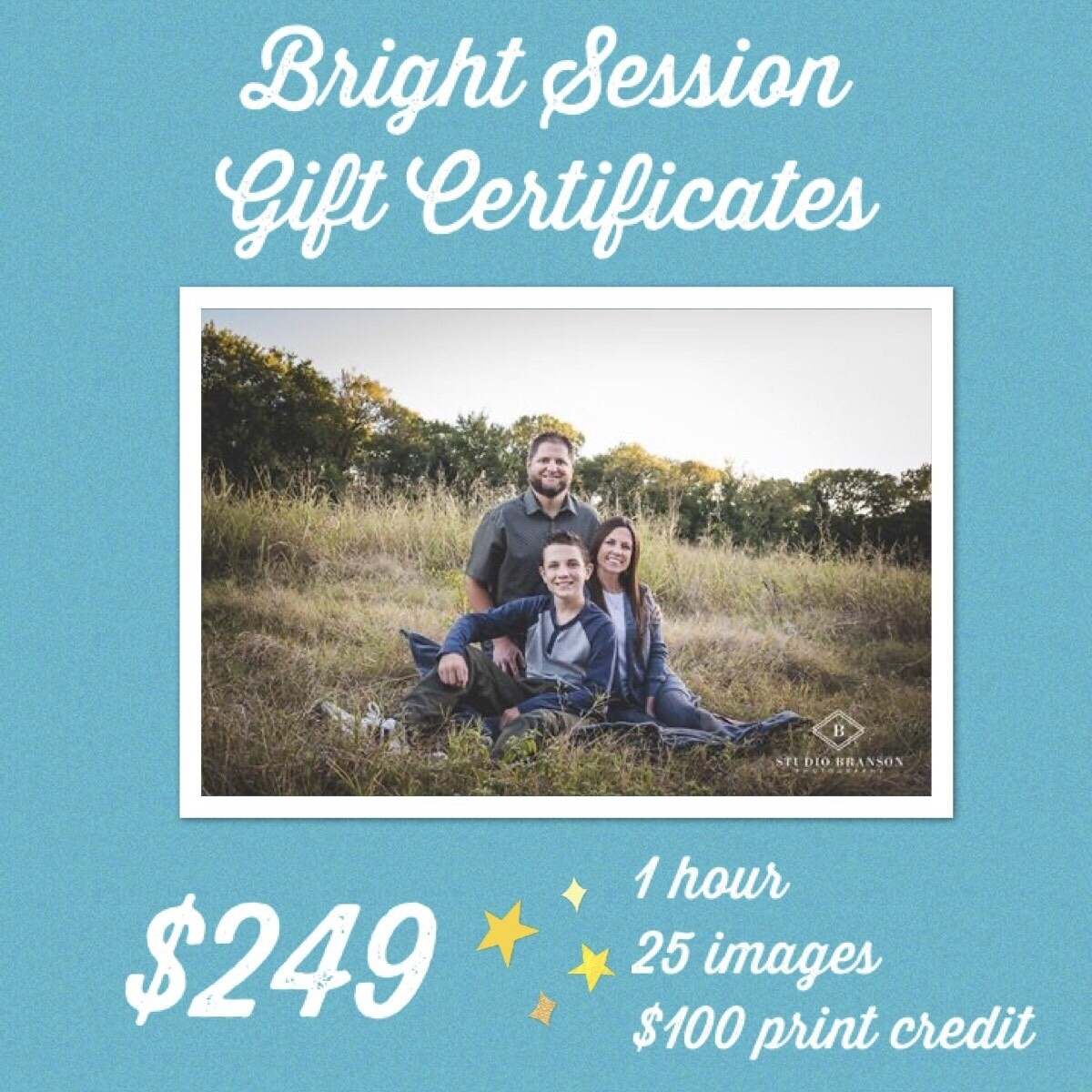 Bright Family Session Gift Certificate
