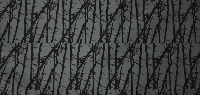 Ulkoiluvaatekangas Puusto harmaa  15,90 e/m