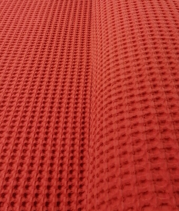 Vohvelikangas tiilenpunainen 15,90 e/m