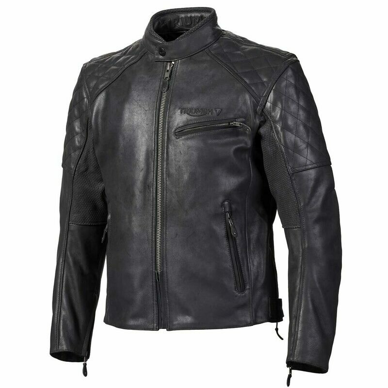 Triumph Arno Quilted Leather Motorcycle Jacket