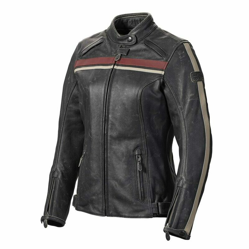 Triumph Raven Leather Motorcycle Jacket for Women