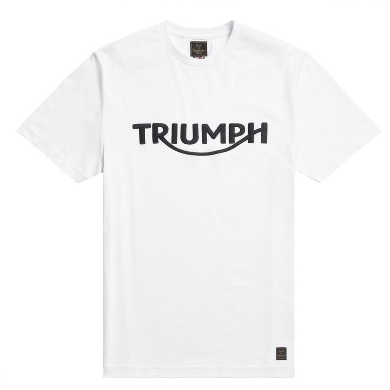 Triumph Bamburgh White Tee