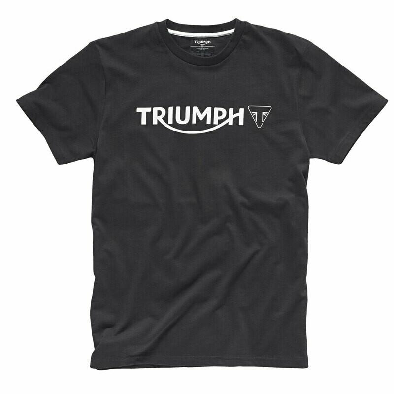 Triumph Modern Logo Black Tee