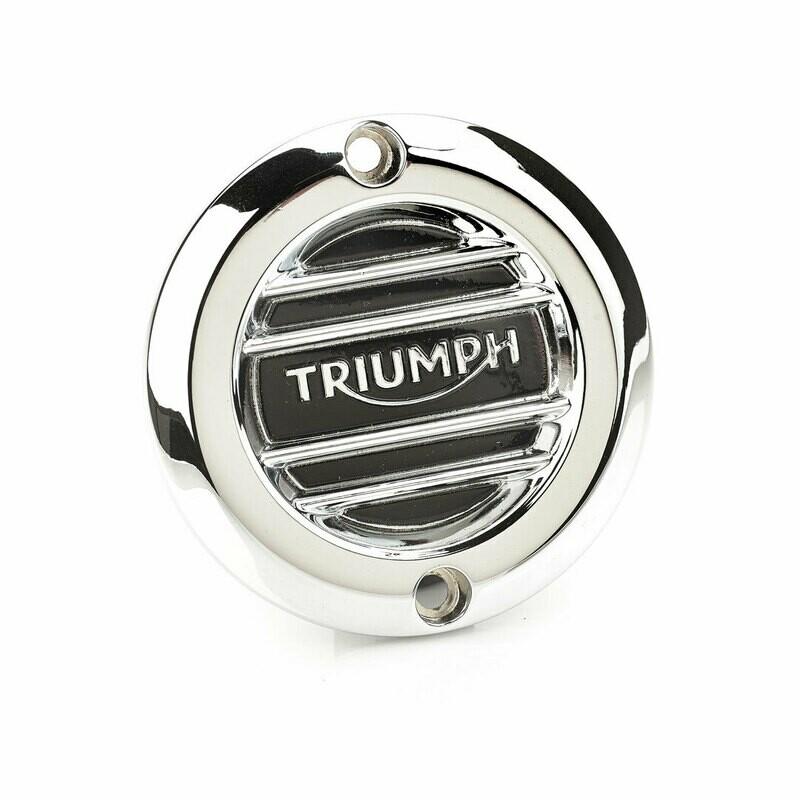 Triumph Ribbed Chrome Clutch Cover