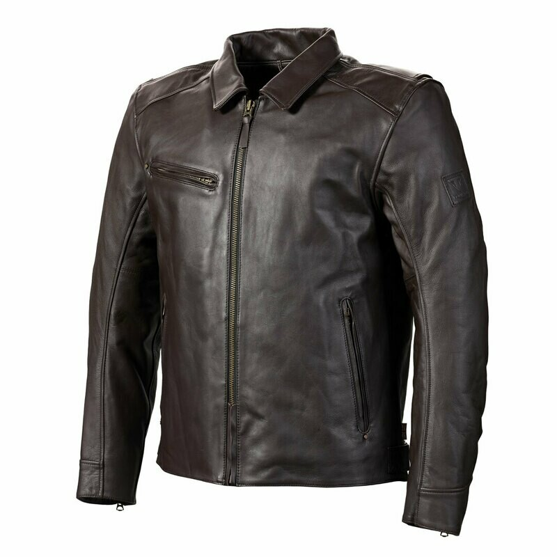 Triumph Vance Brown Leather Motorcycle Jacket